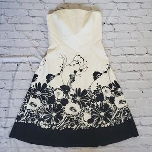 Ann Taylor Strapless Floral Dress NWT